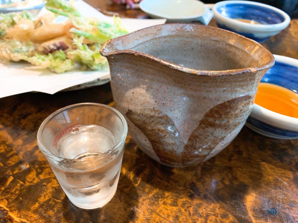 宮島酒店の天堕と佐久の花酒造の佐久の花と大澤酒造の明鏡止水と豊島屋の豊香