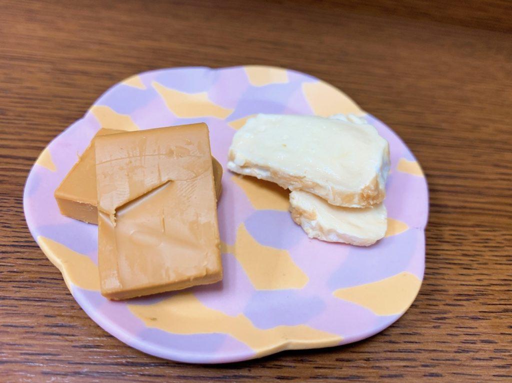 発芽そばゆきのチーズ2種