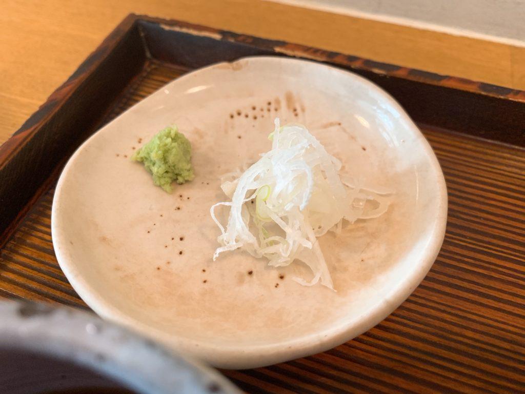 手打蕎麦naruの薬味