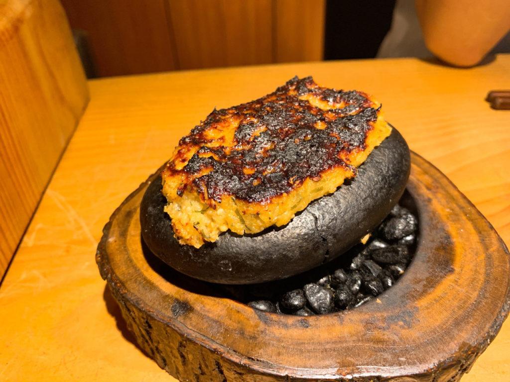 千寿竹やぶの石焼き味噌