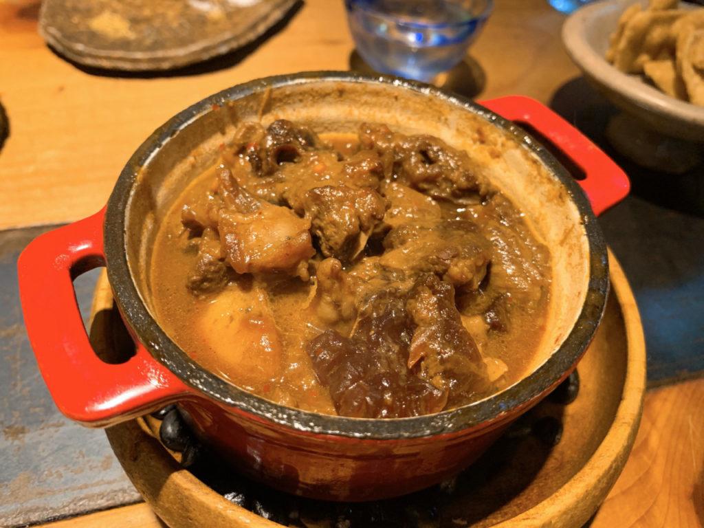 千寿竹やぶの牛スジ煮込み
