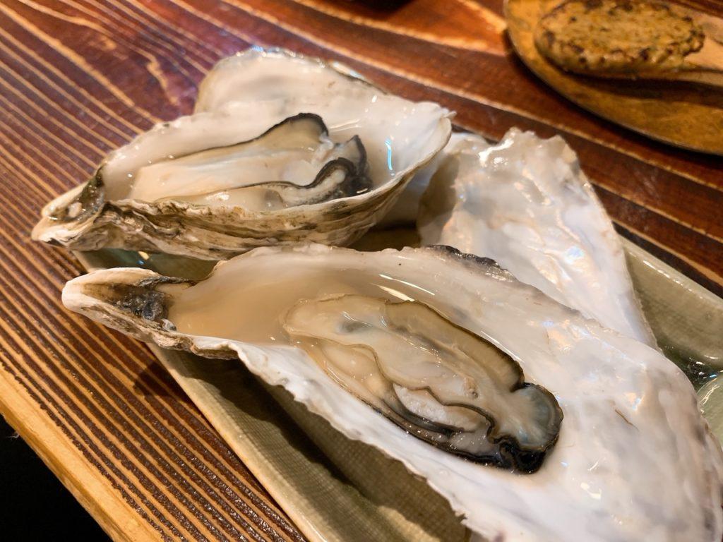 ときそばの蒸し牡蠣