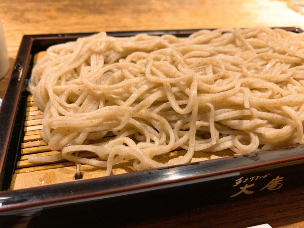 新宿の大庵の蕎麦