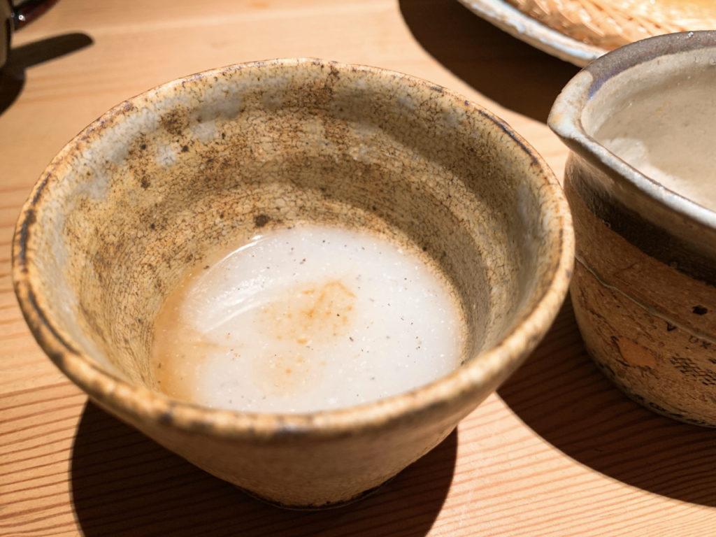 一東菴の蕎麦湯