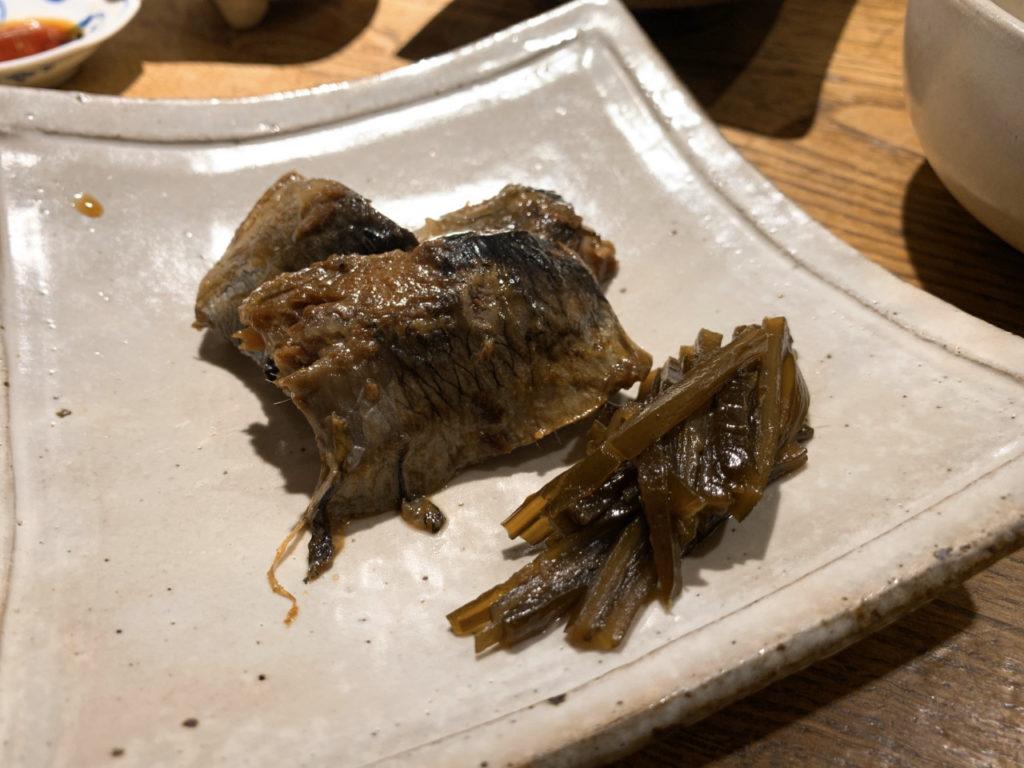 新宿の大庵の鰊の甘辛煮