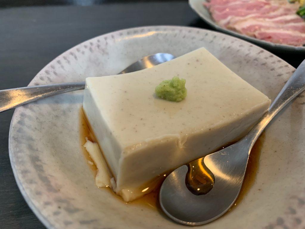 豆乳そば豆腐