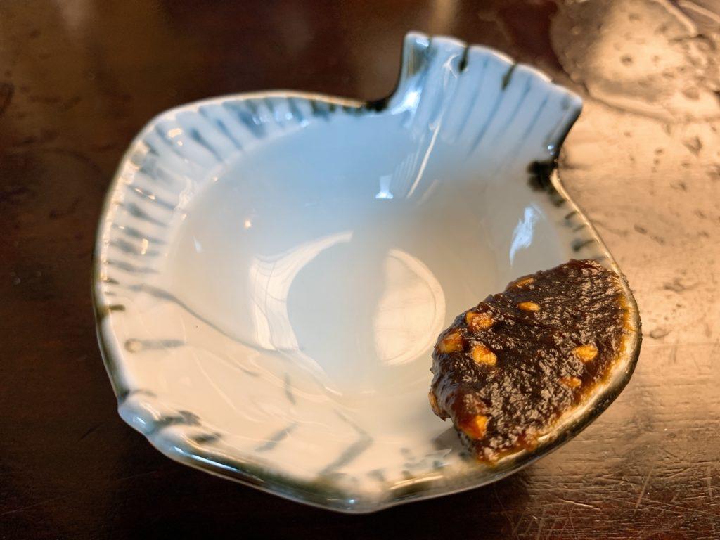 神田まつや 蕎麦味噌