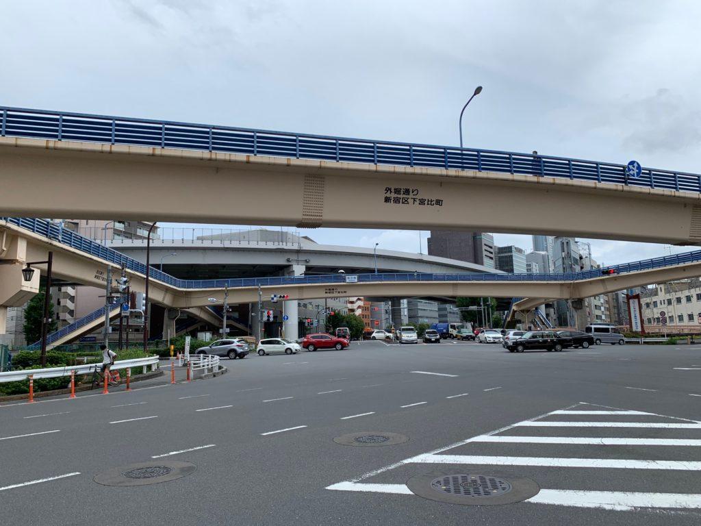 飯田橋 五差路